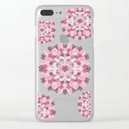 Crystals Succulents Mandala PINK Clear iPhone Case
