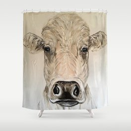 Cow named Mitch.  Cow Painting Cow Art Shower Curtain