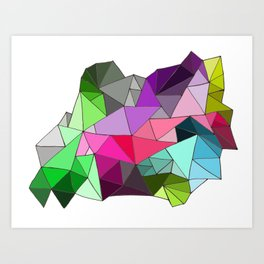 perfect colors in an imperfect configuration Art Print