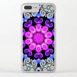 Colorful Oriental Mandala Clear iPhone Case