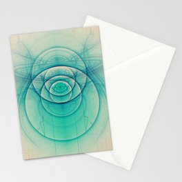 Egyptian Turquoise Scarab on Beige Sandstone Glyphs Stationery Cards
