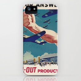 Vintage poster - All-Out Production iPhone Case