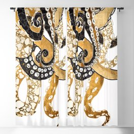 Metallic Octopus Blackout Curtain