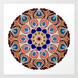 Multicolored abstract fractal mandala Art Print
