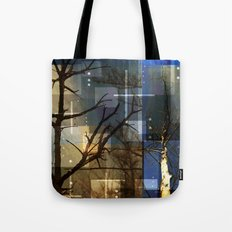 Posterize Dead Trees Tote Bag