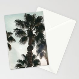 Palm Tree Art Print {1 of 3} | Teal Pastels Topical Beach Plant Nature Vacation Sun Vibes Artwork Stationery Cards
