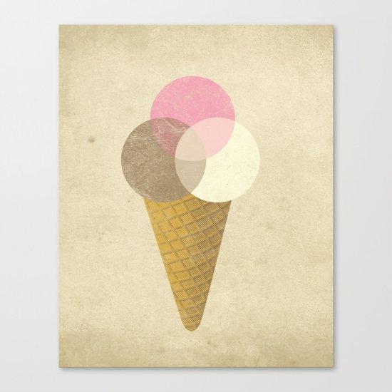 Ice Cream Venndor Canvas Print
