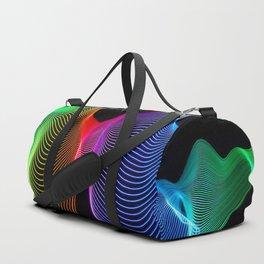 Rainbow Sound Waves Light Painting Duffle Bag