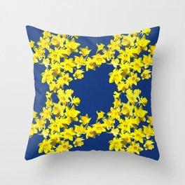 Daffodil Print Throw Pillow