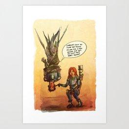 Valérian and Laureline Art Print