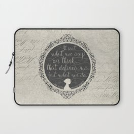 Sense And Sensibility - It's What You Do Laptop Sleeve