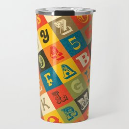 VINTAGE ALPHABET Travel Mug