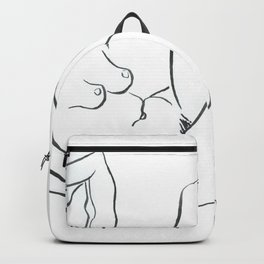 Reclining Nude Backpack