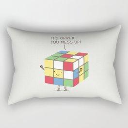 it's okay if you mess up! Rectangular Pillow
