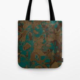 Peacock and Brown Tote Bag
