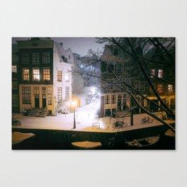 AMSTERDAM / Winter Night Canvas Print