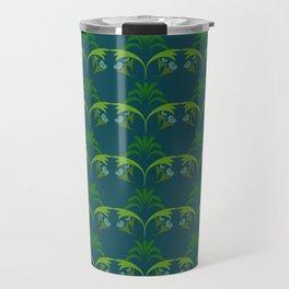 Green Wheat Floral Travel Mug