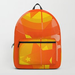 hoe is afraid of orange and yellow Backpack