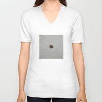 ladybug V-neck T-shirts featuring Ladybug by Michael Creese