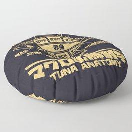 Tuna Anatomy Japanese Maguro Sushi - Black Sand Floor Pillow