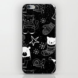 Merry Christmas-Simple X-mas Fun Doodle-Mix and Match with Simplicity of Life iPhone Skin