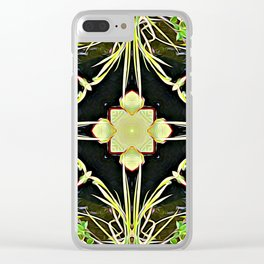 Diamond Centered Patience Clear iPhone Case