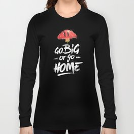Go Big or Go Home Mario Inspired Smash Art Long Sleeve T-shirt