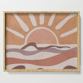 Sea Sunset Serving Tray