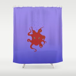 Octopus is coming out of the bubble Shower Curtain
