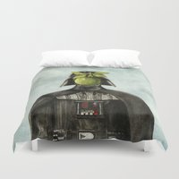 magritte Duvet Covers featuring Son of Darkness by Eric Fan