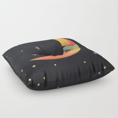 Imaginative Moon Floor Pillow