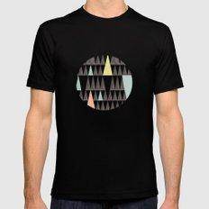 Triangle pattern Mens Fitted Tee Black MEDIUM