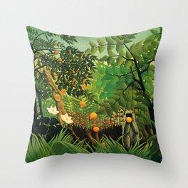 """Henri Rousseau """"Exotic landscape"""", 1910 Throw Pillow"""