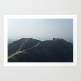 Whittier Hills Art Print