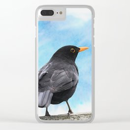 The whistling of the blackbird Clear iPhone Case