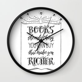 Books lover quote Wall Clock