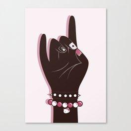 Pinky hand illustration Canvas Print