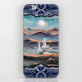 A city shinning under the stars iPhone Skin