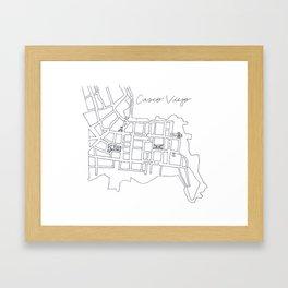 Map of Casco Viejo Framed Art Print