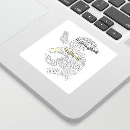 Hufflepuff House Crest Sticker