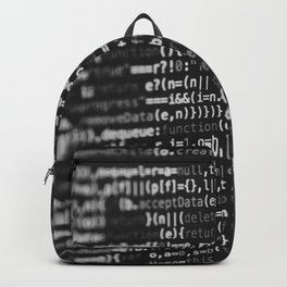 The Code (Black and White) Backpack