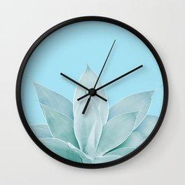 Light Blue Agave #1 #tropical #decor #art #society6 Wall Clock