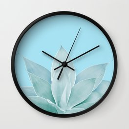 Light Blue Agave #1 #tropical #decor #art #society6 Wall Clock