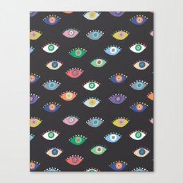Eyez (Black) Canvas Print