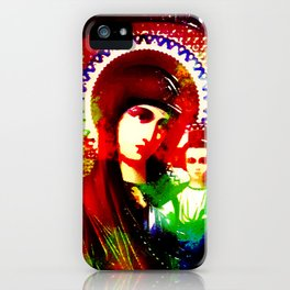 Psychedelic Mother of God - Infrared (The Technicolor Saints) iPhone Case