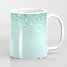 Mint Green Glitter Ombre Fading Paper Coffee Mug