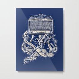Rocker robot Navy Metal Print
