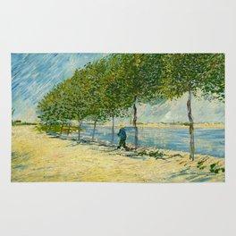 Vincent Van Gogh - Along the Seine Rug