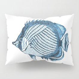 Fish coastal ocean blue watercolor Pillow Sham