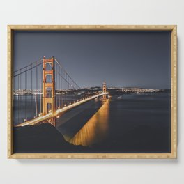 Golden Gate Glowing Serving Tray